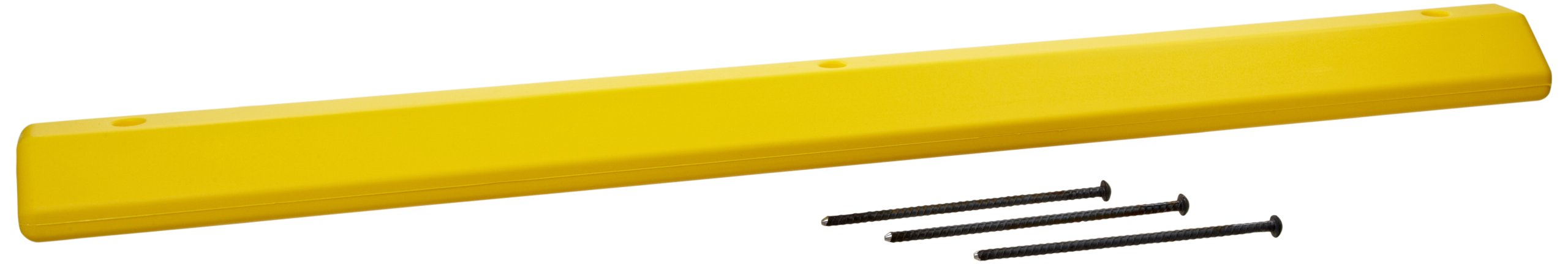 Eagle 1790Y Yellow High Density Polyethylene Parking Stop with Anchor Kit, 72'' Length, 8'' Width, 4'' Height