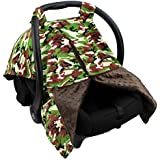 Strawberry Farms Baby Car Seat Cover Canopy and Nursing Cover 2 in 1 Brown Camo