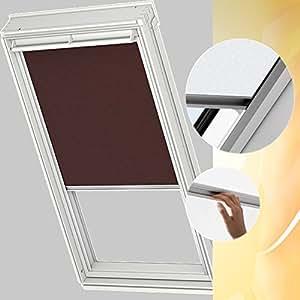 Original de la pantalla para estor VELUX 206 4060S color marrón para GGL GPL 206 con guías de aluminio
