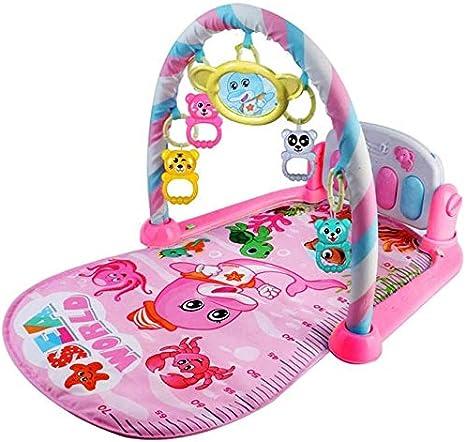 Wivilly Alfombrilla Gimnasia Bebés Alfombrilla Juego para Piano Desmontable con Música Juguetes Deportivos para Bebés 0 A 36 Meses