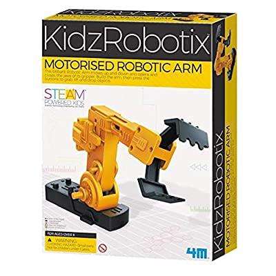 4M Motorized Robotic Claw Arm Kids Science Kit: Toys & Games