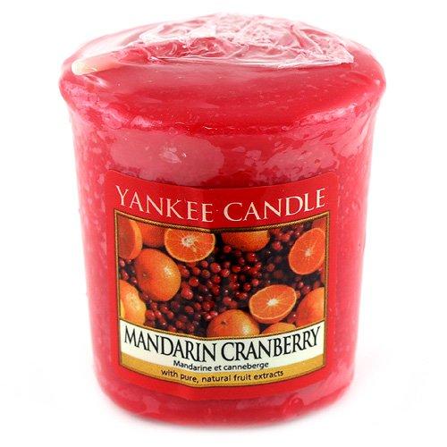 YANKEE CANDLE Samplers Candele Votive Mandarin Cranberry, Cera, Rosso, 4.5 x 4.5 x 5 cm 1065579E