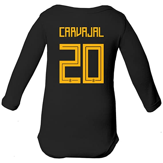 Amazon.com   Tcamp Spain 2018 National Soccer  20 Dani CARVAJAL World  Championship Little Infant Baby Long Sleeve Bodysuit   Sports   Outdoors 8c66e20a5