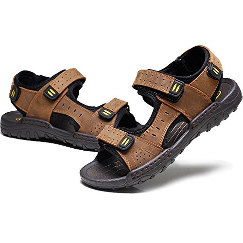 Shoe 2 EU 27 0 Wagsiyi spiaggia 5 24 Magic CM Traspiranti Marrone Beach Men's Sandal 3 Scarpe Dimensione Nero Colore Outdoor pantofole da Sandali Neri 42 Sports Stick FF8qS