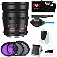 Rokinon DS 24mm T1.5 Cine Lens (DS24M-NEX) for Sony E-Mount + Accessory and Filter Bundle