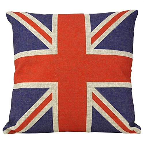 Union Square Print (Onker Cotton Linen Square Decorative Throw Pillow Case Cushion Cover 18