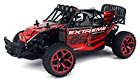 Extreme Speed Remote Control RC Truggy Truck Buggy 1:18 Scale 4 Wheel Drive 4WD Rechargeable w/ Working Front Suspension (Colors May Vary)