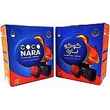 2 - Box of 120pcs Coconut Coco Nara Coconara Premium Lighting Hookah Hokah Charcoal Coals- Total 240pcs