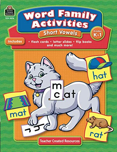 Word Families Short - Word Family Activities: Short Vowels Grd K-1: Short Vowels Grd K-1