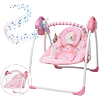 Soothing Portable Swing, Electric Baby Swing with Intelligent Music Vibration Box, Comfort Rocking Chair Load Resistance…