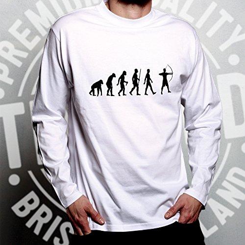 Tim Grey Dark And Con Hobby Lunga Tiro Manica Darwin Sport Di Ted Divertente Parodia L'arco Evoluzione ZZ6dwrq
