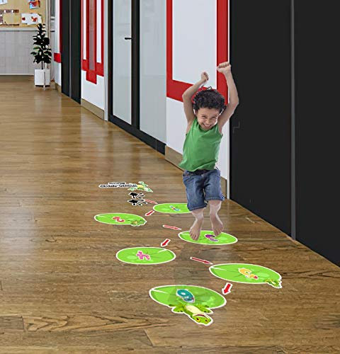 Indoor Active Games for Kids HK Studio Sensory Pathway Floor Decals Montessori Gym for Kids Montessori Toys for Toddlers Sensory Play Crab Walk Path Decal for Boosting Gross Motor Skills