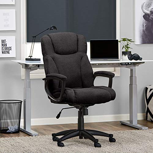 Serta Style Hannah II Office Chair, Microfiber, Black (Serta Big And Tall Commercial Office Chair)