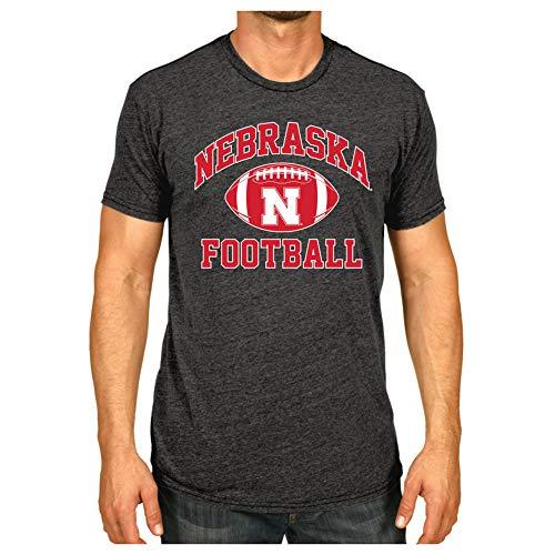 Elite Fan Shop Nebraska Cornhuskers Tshirt Charcoal Football - M