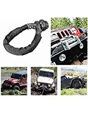 """Synthetic Soft Shackle with Protective Sleeves with Strong Bearing Capacity 1/2""""X22"""" for ATV Truck Black"""