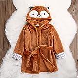 Baby Cartoon Animal Style Bath Robes Toddler Unisex Kids Hooded Tower Pajamas