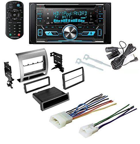 TOYOTA TACOMA 2005 - 2011 CAR STEREO RADIO DASH INSTALLATION MOUNTING KIT W/ Kenwood DPX592BT Double-DIN In-Dash Car Stereo with High Resolution Audio Compatibility/iHeartRadio