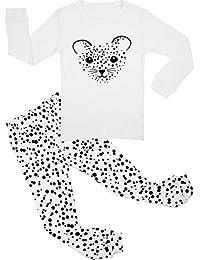 BOOPH Girls Pajamas 2 Piece Animal Long Sleeve Pajama Set 100% Cotton sleepwear 2T-7T