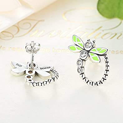 The Kiss Lovely Sloth Cat Queen Bee Animal 925 Sterling Silver Stud Earrings