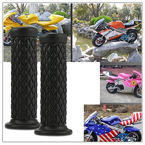 1 Par 22mm Universal Motocicleta Apretones de Mano Antideslizantes Deporte Manillar de Caucho Empu/ñadura de Mano Final de La Motocicleta Bicicleta Cafe Cafe Racer