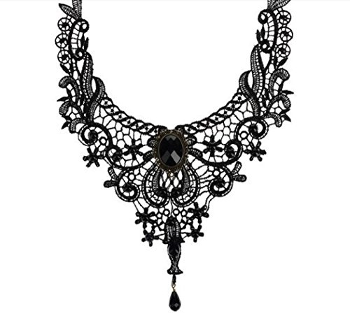 Flake Rain Girls Europe Lace Lady Necklace Foreign Trade Export Decorations Original Luxury Exaggerate Black Clavicle Necklace