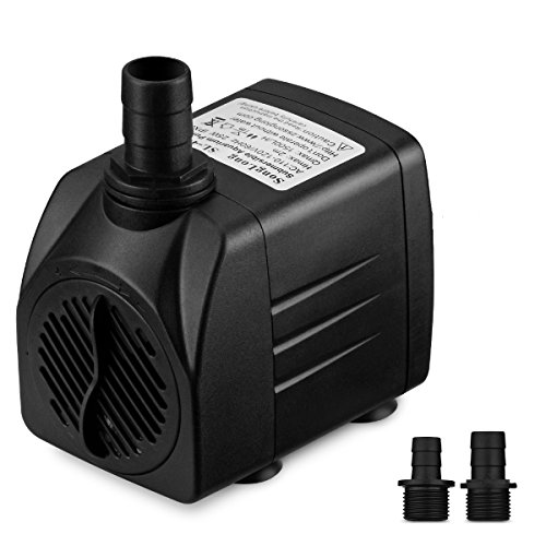 Victsing 400 GPH Submersible Water Pump For Pond, Aquarium, Fish Tank Fountain Water Pump