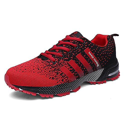 Topteck Men's Breathable Knit Athletic Shoes Womens Solf Lightweight Running Sneskers Outdoor Workout Gym Tennis (Best Looking Athletic Shoes)