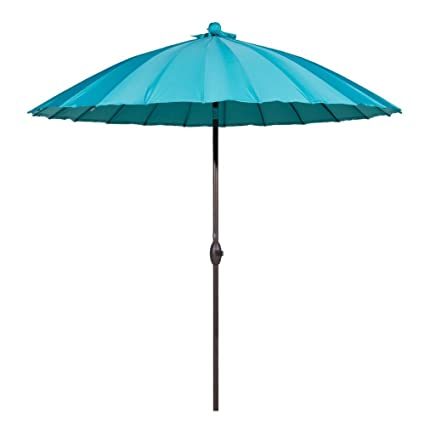 Gentil Abba Patio Outdoor Patio Umbrella 8.5 Feet Patio Table Umbrella With Push  Button Tilt And Crank