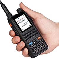 Two Way Radio Walkie Talkie EasyTalk CP2000 Dual Band VHF UHF 136-174MHz&400-520MHz 128CHS 8W Long Range Large Display Ham Transceiver & Headsets