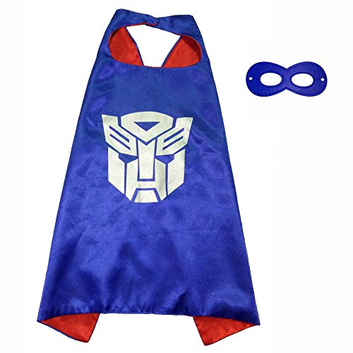 Transformers 3 Costumes (FASHION ALICE Superhero Superman CAPE & MASK SET,Halloween Costume Cloak for Child (Transformers,Blue))