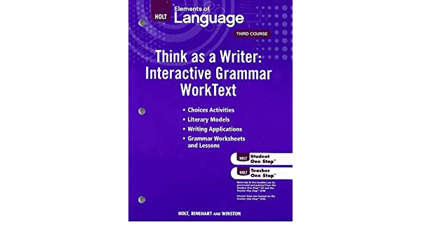 Amazon.com: Elements of Language Think as a Writer: Interactive ...
