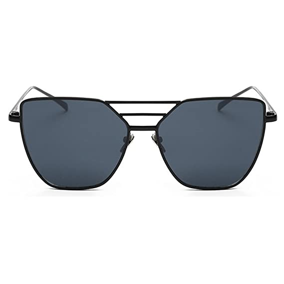 975e643265f3 RazMaz Cateye 3 Deck Alloy Frame Mirror Vintage Unisex Sunglasses (Grey)