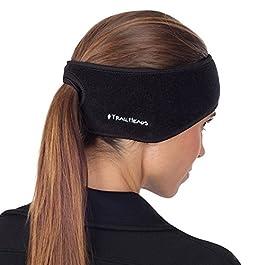 TrailHeads Women's Ponytail Headband | Fleece Earband | Winter Running Headband.