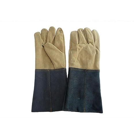 HJL 15 pulgadas guantes largos de la soldadura guantes de cuero de la mano de la ...