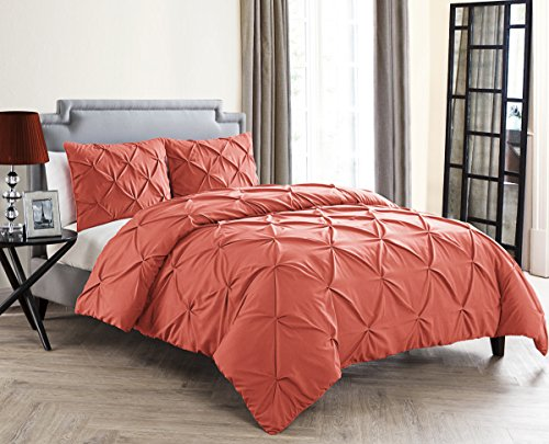 VCNY Home CMN-3DV-KING-OV-OI Duvet Cover Set, King, Coral (Cover Coral Duvet)