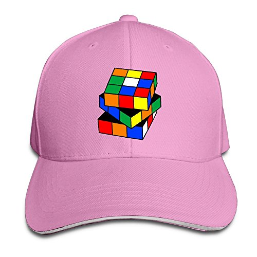 Safan532 Magic Cube Toy Pattern Fashion Unisex Unstructured Cotton Cap Adjustable Baseball Hat Caps Pink (Baby Halloween Costumes 2017 Uk)