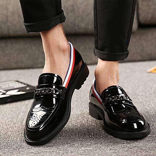 Leather Scarpe Appartamenti Da Guida Lucido Black Vintage Casuali Dello On Mocassino  Slip Patent Mocassini Nappa Mens rnw80zwIq 822675f4902
