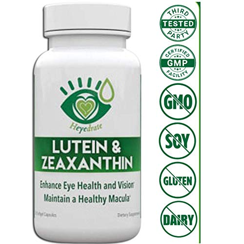 Lutein and Zeaxanthin Vision Supplement - Enhance Health, Vision, and Maintain a Healthy Macula and Retina, Non-GMO, No Soy or Gluten (3 Month Supply)