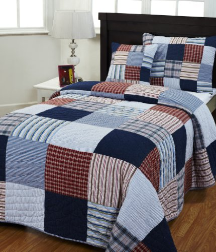 Be-You-tiful Home Ryan Cotton Twin Quilt Set with Sham and Pillow by Be-You-tiful Home