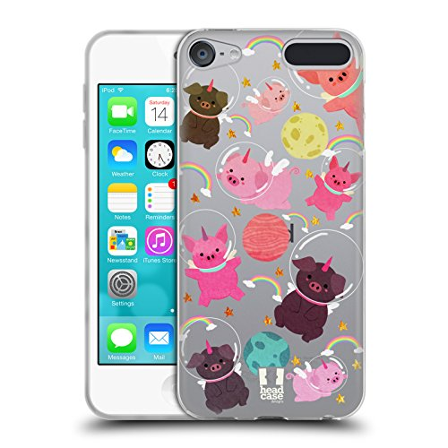 - Head Case Designs Pig Space Unicorns Soft Gel Case for Apple iPod Touch 6G 6th Gen