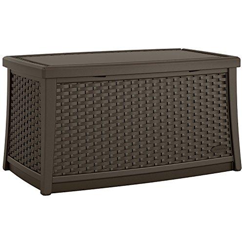 Suncast Elements Coffee Table With Storage Java: Patio Furniture & Accessories : Amazon.com