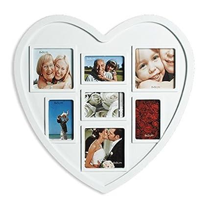 Corazón Marco de fotos,Portaretratos corazón, para 7 fotos - imágenes Forma De Corazón