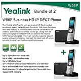 Yealink W56P Bundle of 2 Business HD IP DECT Phone and Base Unit, PoE, Voicemail