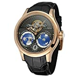 FORSINING Men's Brand Automatic Movement Stainless Steel Case World Map Dial Wrist Watch FSG9413M3R1