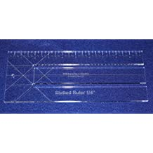 """10"""" """"Slotted Ruler. 1/4"""" Slots Template ~1/4""""- Clear Acrylic - Quilting/sewing by TCR Templates"""