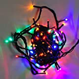 LEDwolesalers 33-ft 100-LED Red Green Blue Gradually Colors Changing Christmas Holiday Light String with Green Wire, X065-RGB