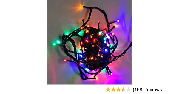 amazoncom ledwolesalers 33 ft 100 led red green blue gradually colors changing christmas holiday light string with green wire x065 rgb home improvement