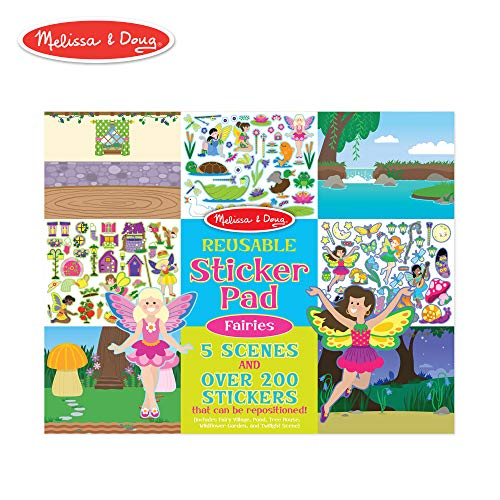 Melissa & Doug Reusable Sticker Pad: Fairies - 200+ Stickers