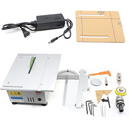 Cutting Carving Machine, Portable Bench Top T5 Mini Table Saw Blade Woodworking Cutting Polishing Carving Machine