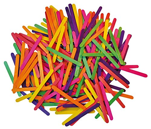 CRAZY CAJUN. Playbox 115 x 9mm Coloured Wood Sticks (2500 ()